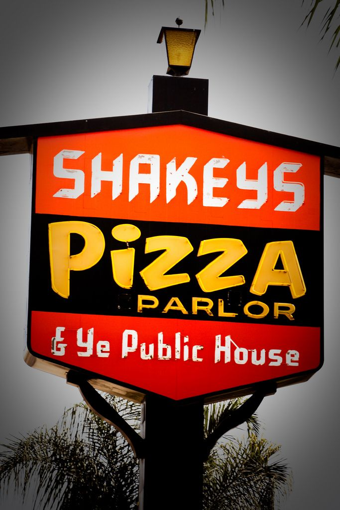 Shakey/'s Pizza restaurant fast food nostalgia Sign