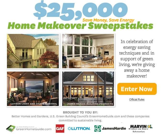 USA only ~ #Sweepstakes ~ Win A $25000 Better Homes And ...