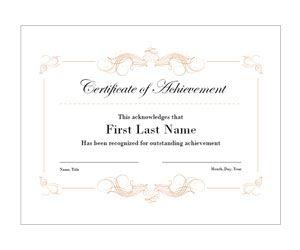 Elegant Swirls Achievement Certificate: Get this free