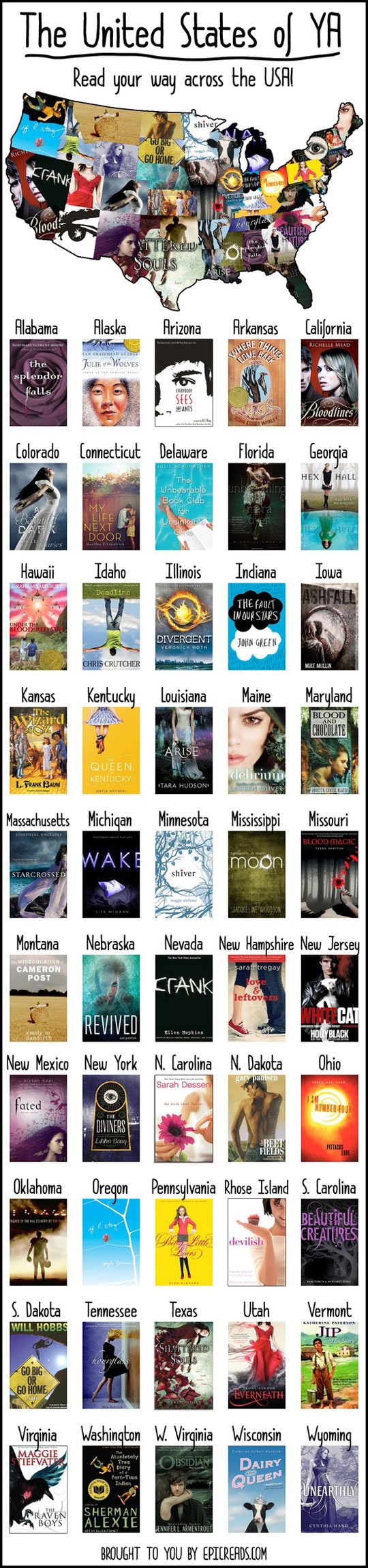 Now I just want to read some of these books.... USA-young-adult-literature-books-states