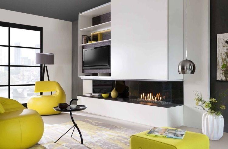 Cheminée design élégant en 48 idées exquises pour vous! Modern