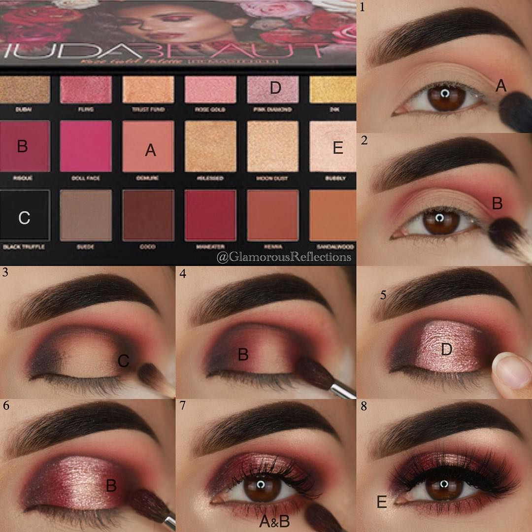Tutorial For This Look My Review Of The Hudabeauty Rose Gold