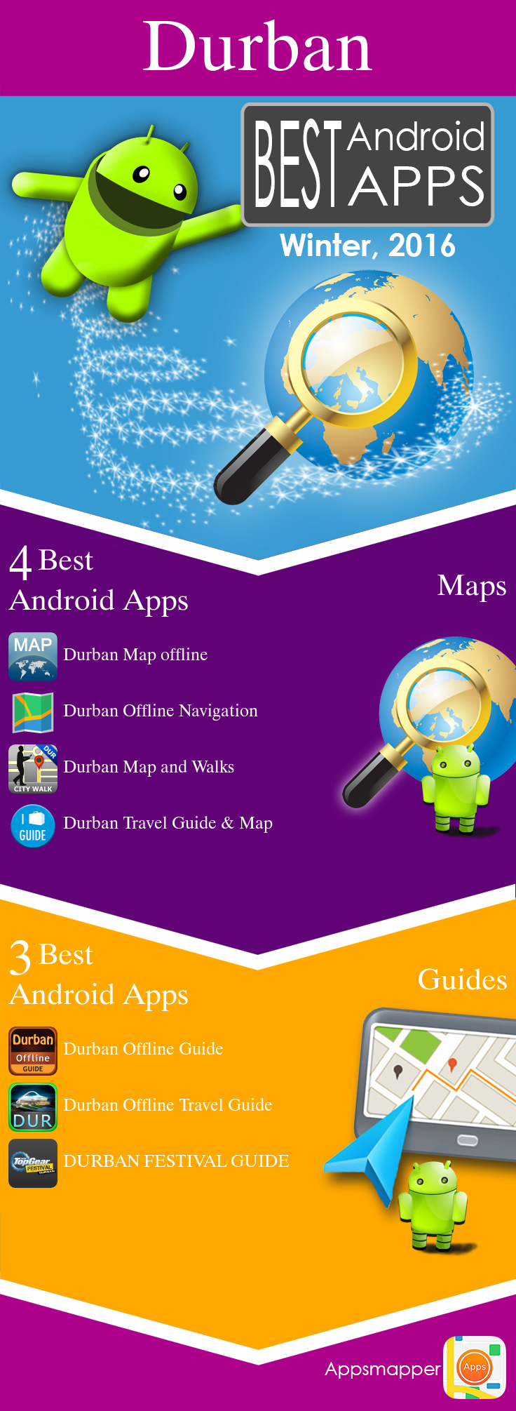 Durban Android apps Travel Guides, Maps, Transportation