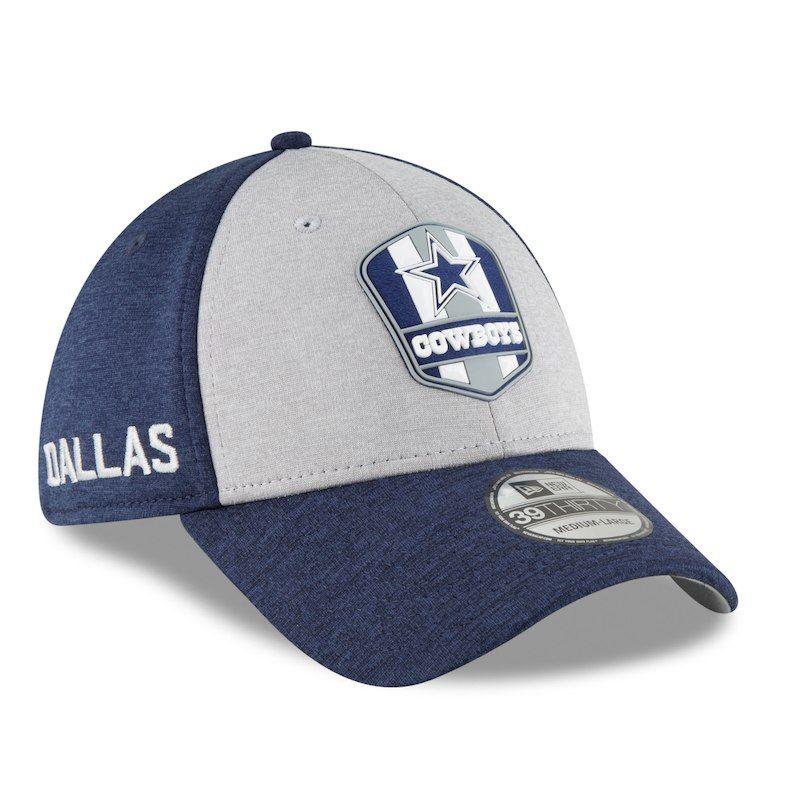 Dallas Cowboys New Era 2018 NFL Sideline Road Official 39THIRTY Flex Hat –  Heather Gray Navy e1036c0e0603
