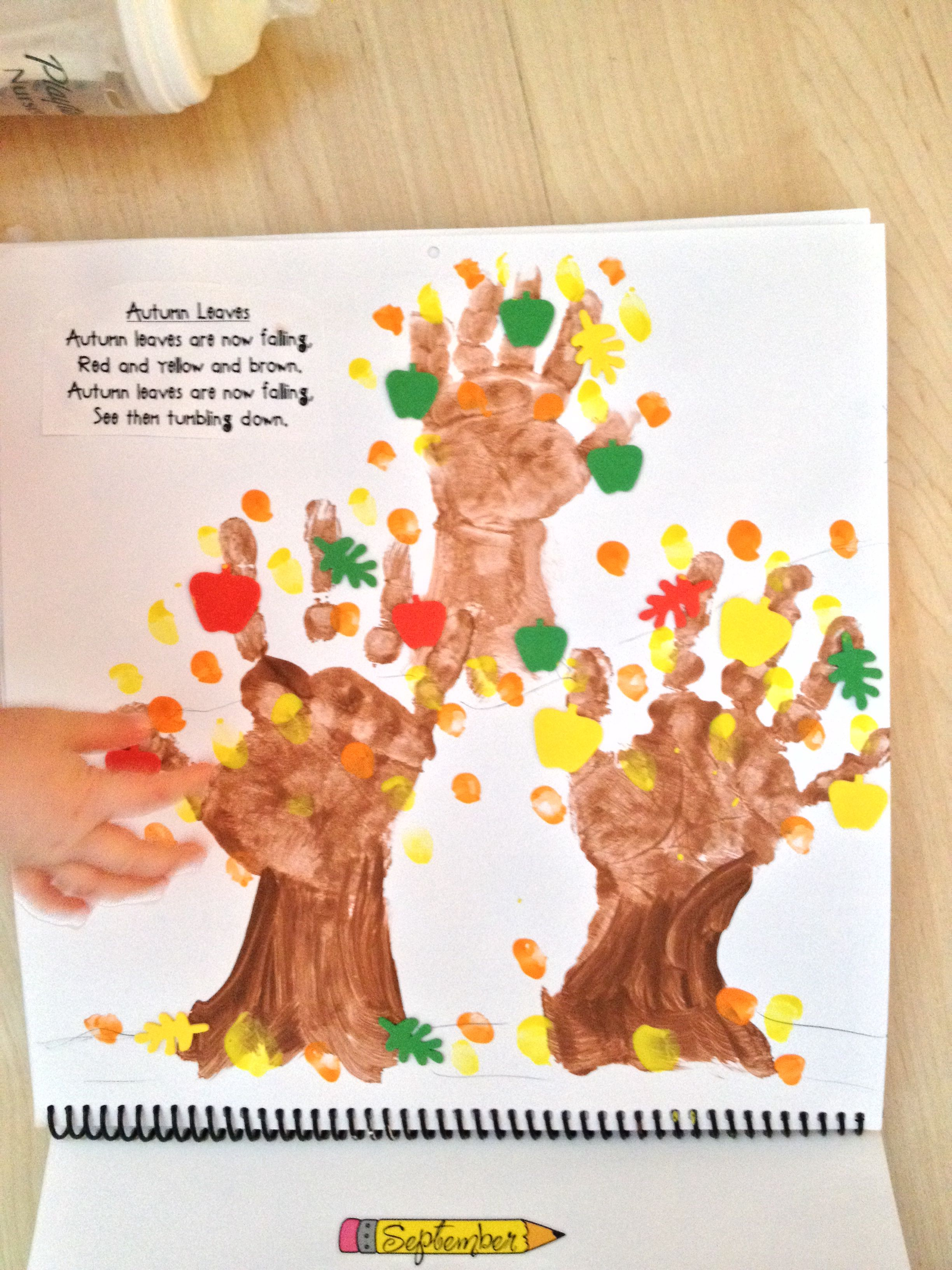 Handprint Calendar Craft Ideas Handprint Calendar Preschool