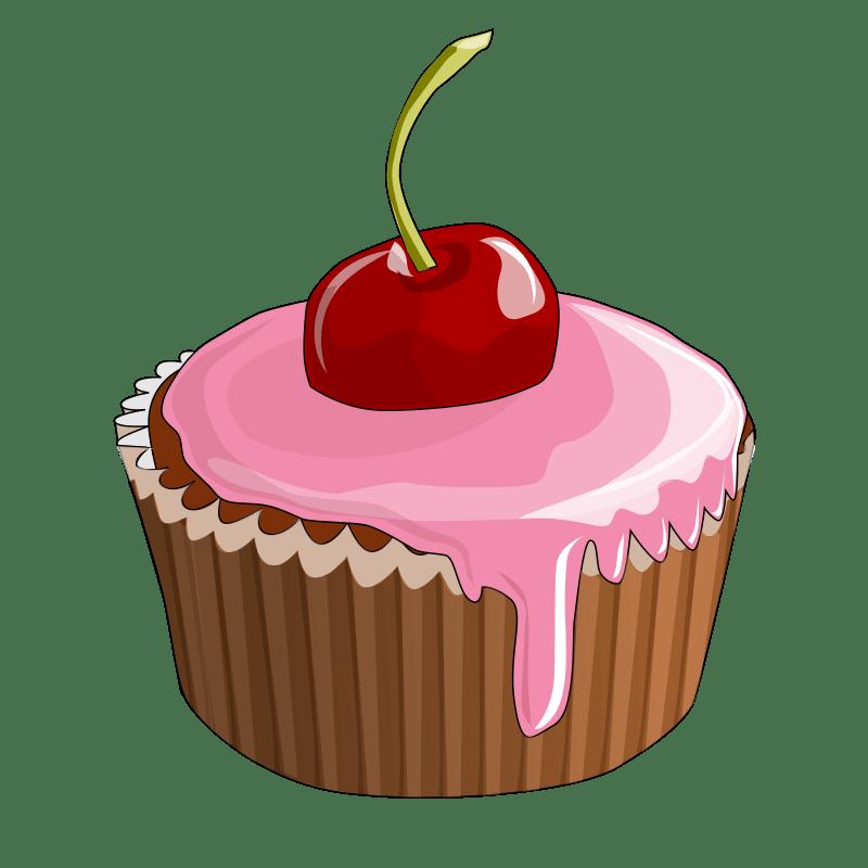 Cartoon Cupcake Cherry On Top Cartoon Cupcakes Cherry Cupcakes Desserts