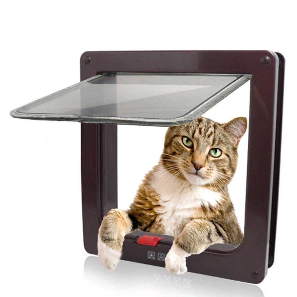 Kailian C 4 Way Cat Puppy Locking Indoor Outdoor For Window Door Remarkable Product Available Now Cat Furnitur Cat Bed Furniture Pet Screen Door Cat Door