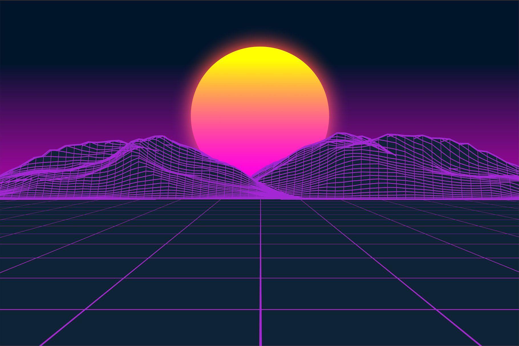 Vaporfuturism Otf Retrowave Font Vaporwave Wallpaper Vaporwave Music Poster Design
