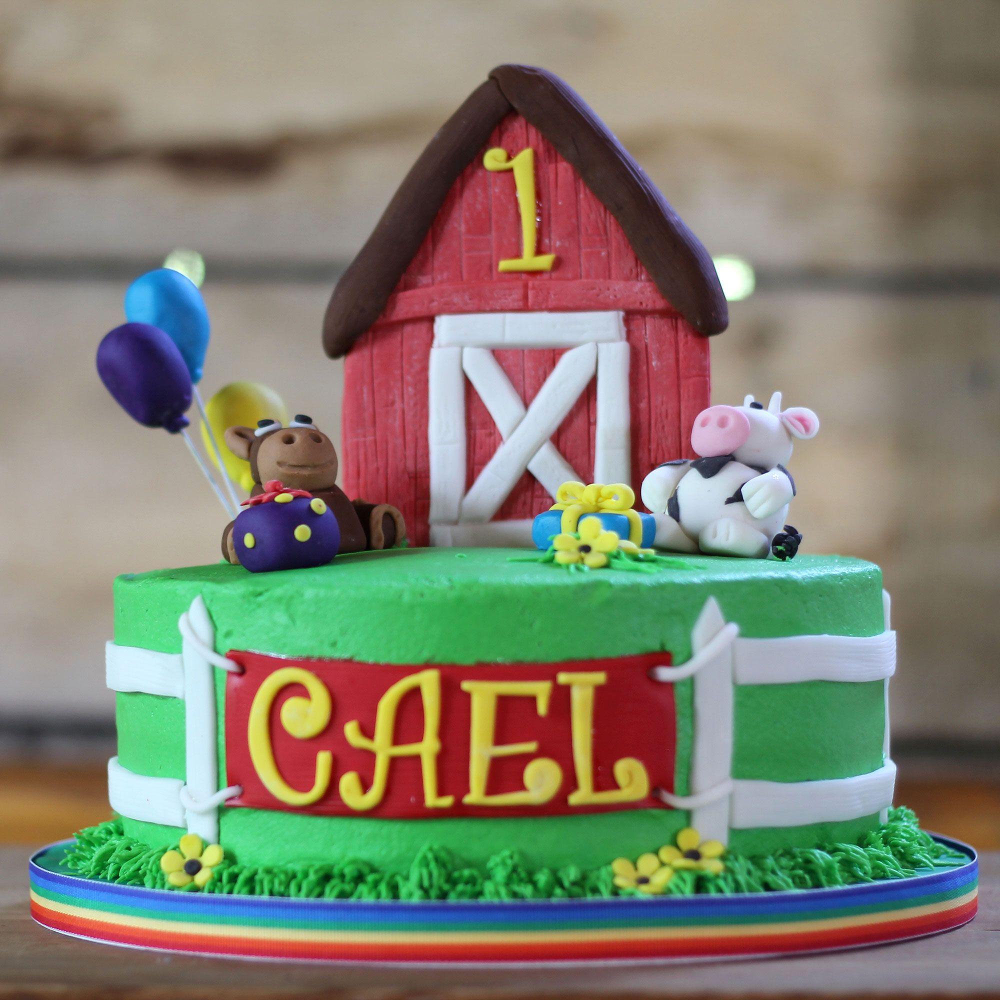 Farm Birthday Cake Cakes For Kids Pinterest Farm Birthday