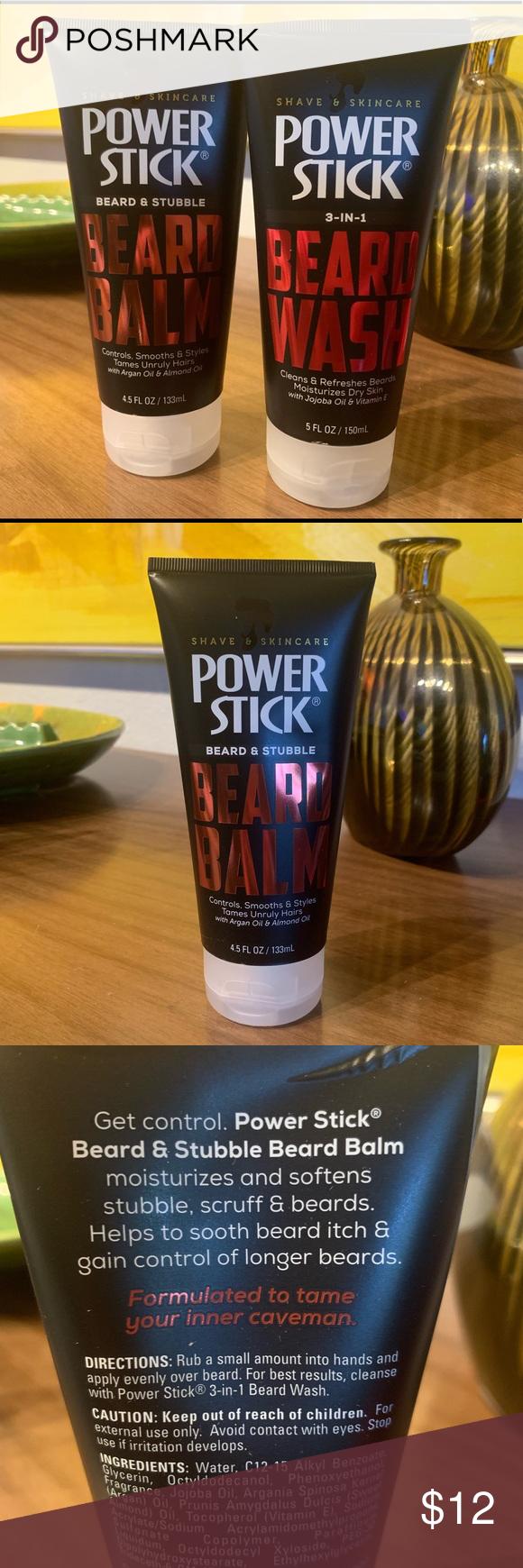 Power Stick 2 Pack Beard Wash & Beard Balm Beard itch