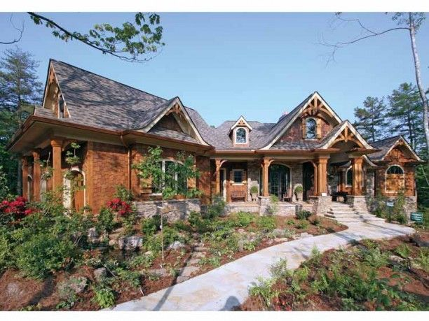 Front DHSW53774   Exterior   Craftsman style house plans ... on