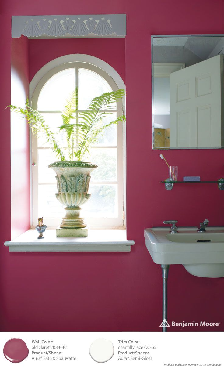 colortrends2015 walls aura bath spa matte old claret 2083 - Red Bathroom 2015