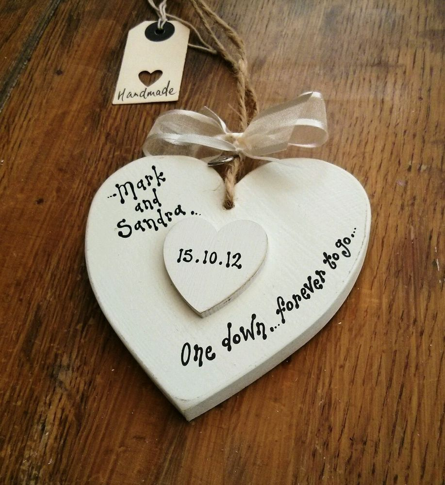 Personalised 1st Wedding Anniversary Gifts: Details About First Anniversary GIFT Personalised 1st One