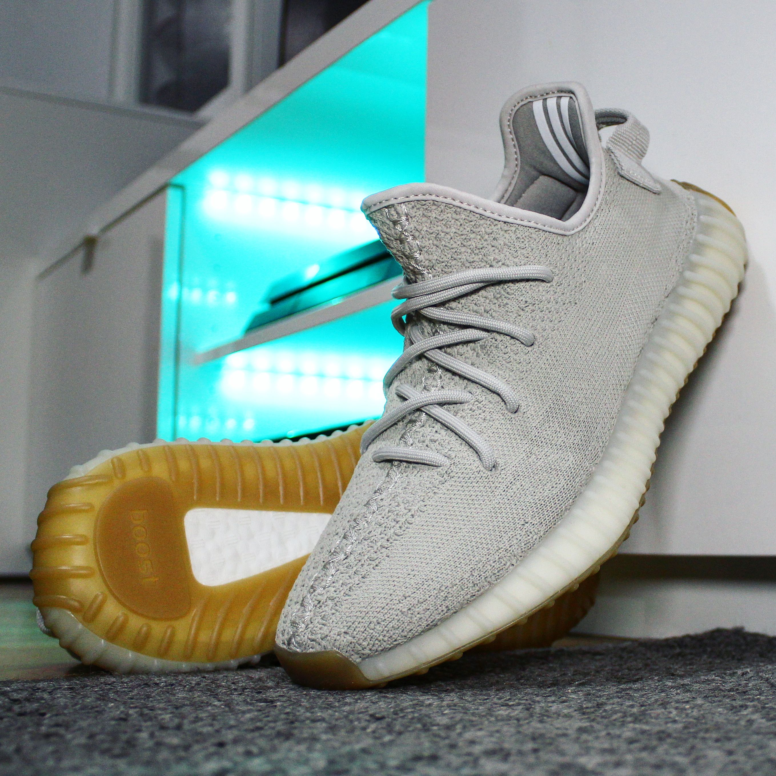 39f0c89d96f26 Tag a friend who will cop Go check out my adidas Yeezy Boost 350 V2   Sesame  on feet