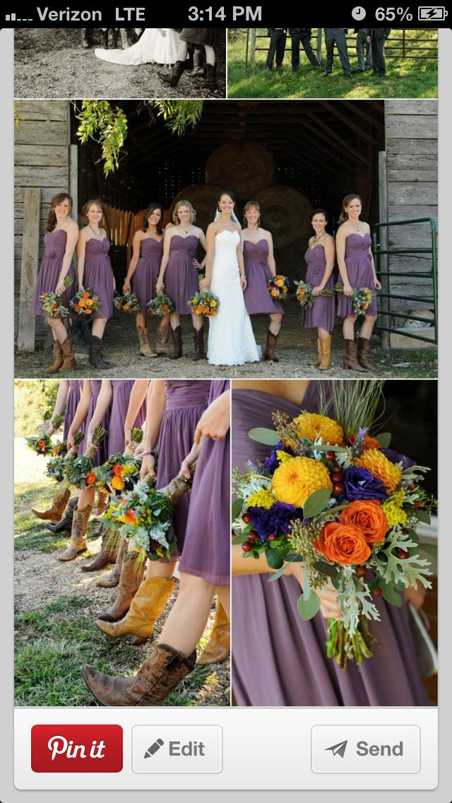 Rustic September Wedding Colors (love the colors but not so much the ...