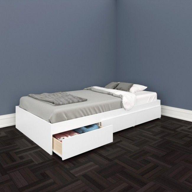 37+ White twin platform bed with storage info
