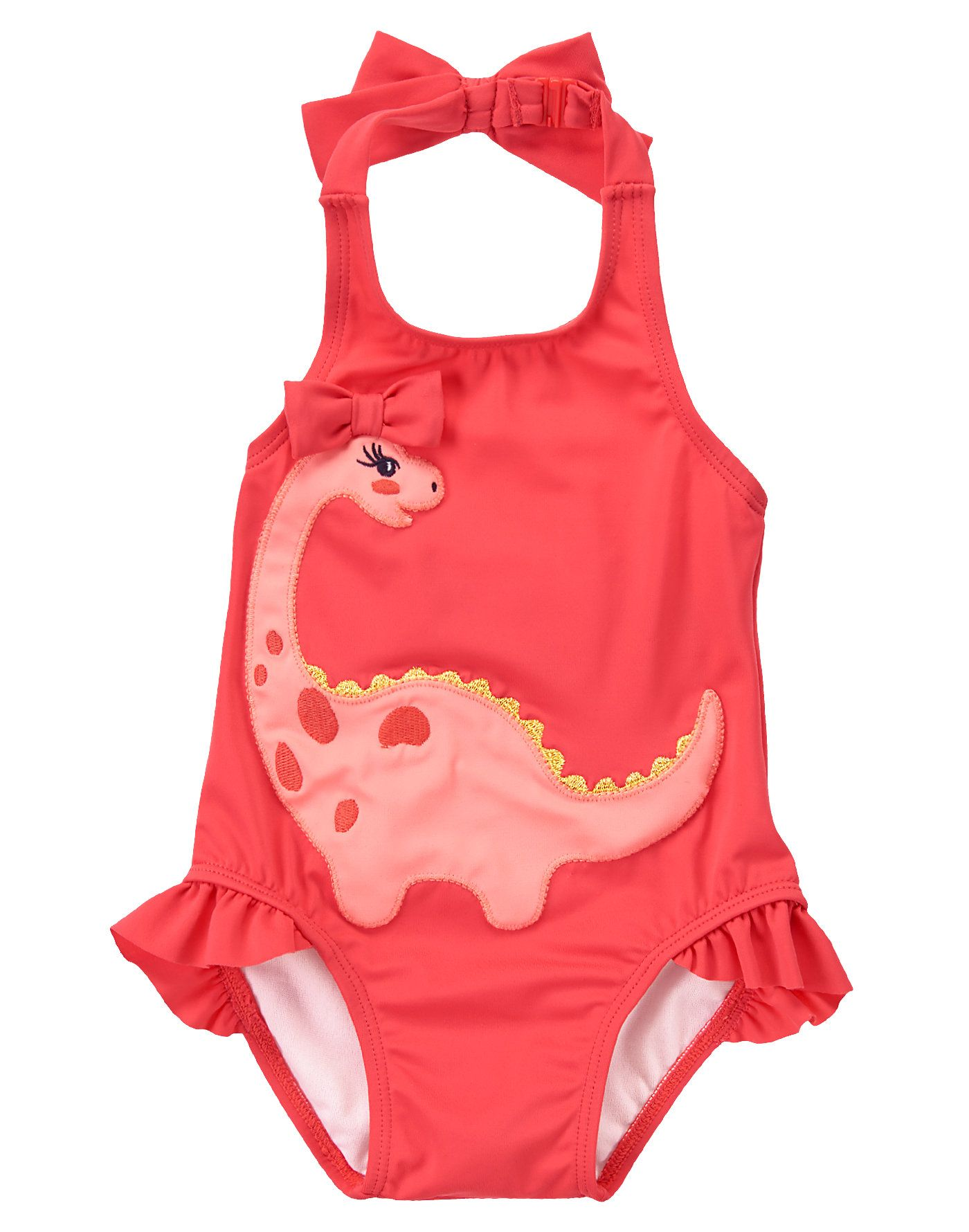 The cutest baby bathing suits! Black & Pink Anchor One-Piece ...