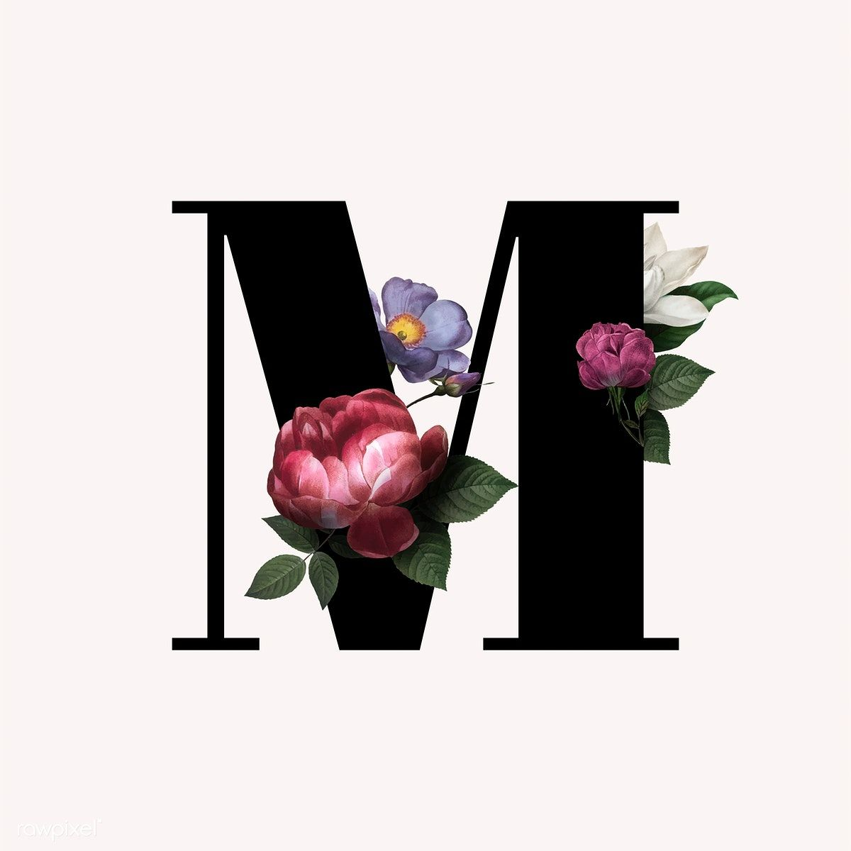Download Premium Vector Of Classic And Elegant Floral Alphabet Font Letter Lettering Alphabet Fonts Fonts Alphabet Lettering Alphabet