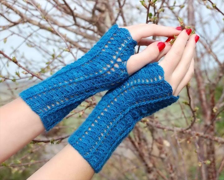20 Easy Crochet Fingerless Gloves Pattern | Guantes
