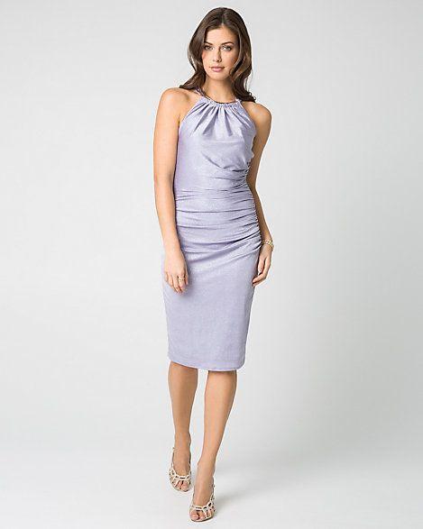 Sparkle+Knit+Halter+Cocktail+Dress