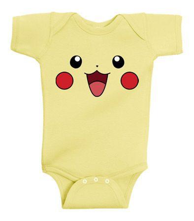616249fd3 Pikachu Face Pokemon Infant Lap Baby Onesie Banana T-Shirt | Baby ...