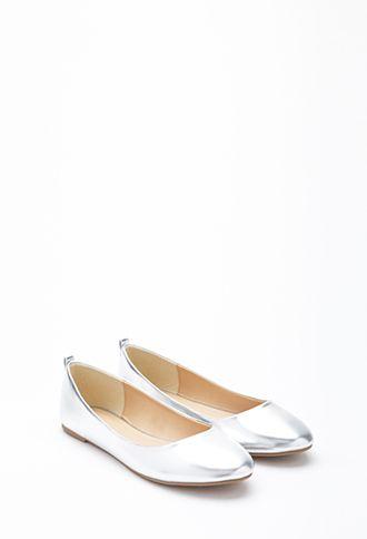 Metallic flats Shoes   WOMEN   Forever 21