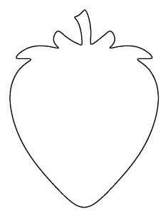 Strawberry pattern. Use the printable outline for crafts, creating