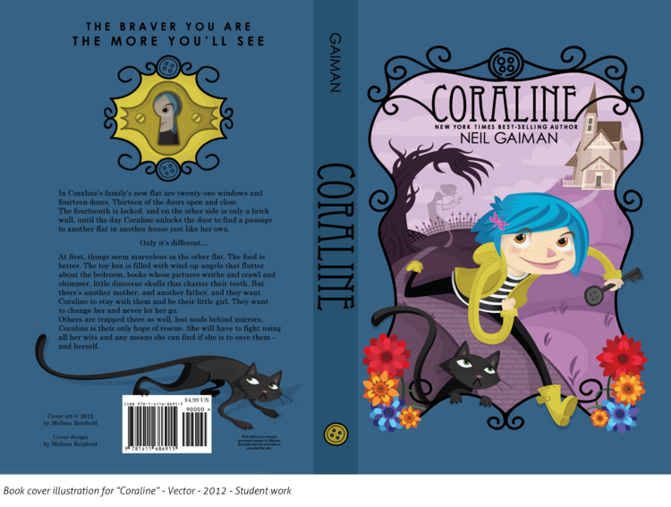 Coraline Book Cover Coraline Book Best Book Covers Book Cover