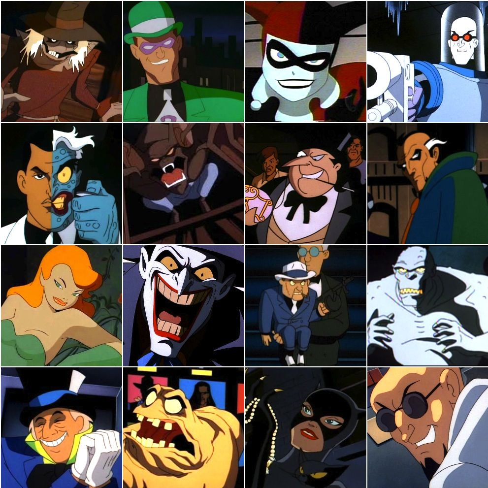 Batman the animated series villain roster 1st generation batman the animated series villain roster 1st generation character designs buycottarizona Images