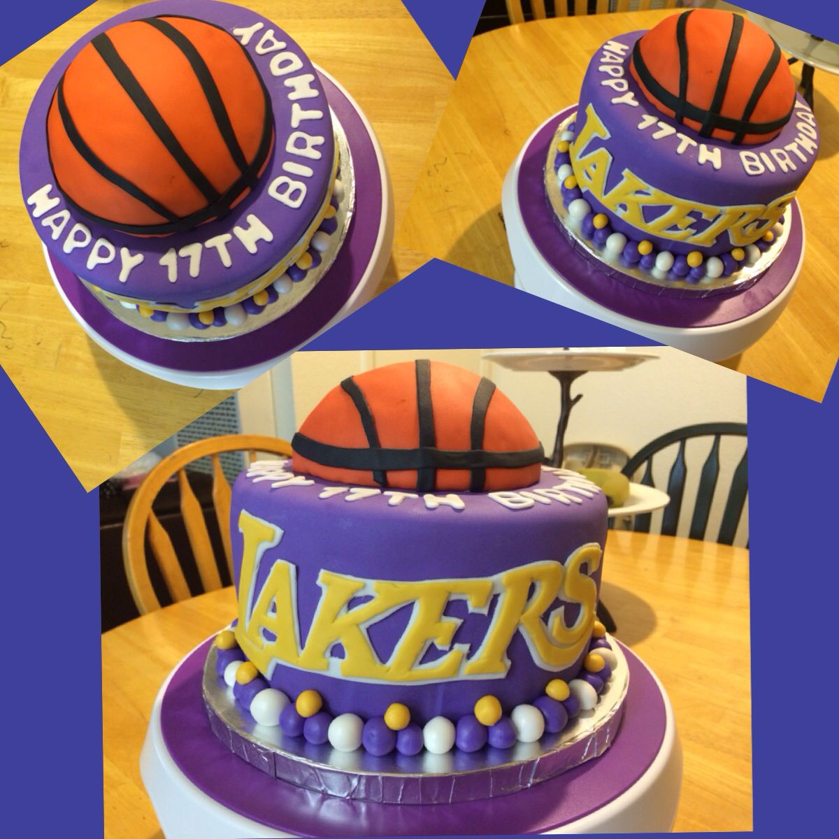Amazing Lakers Birthday Cake With Images Sports Birthday Cakes Funny Birthday Cards Online Sheoxdamsfinfo