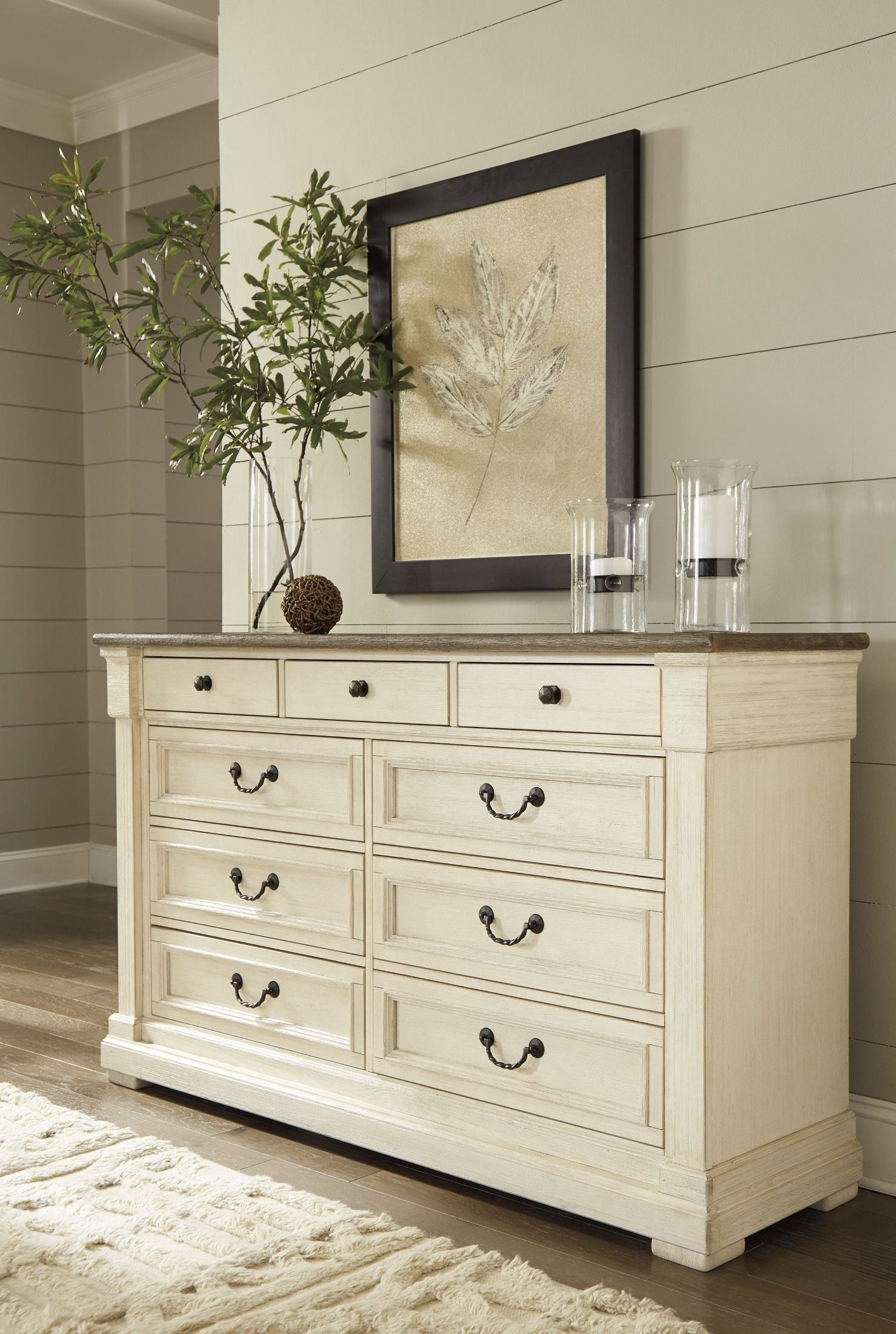 Best Bolanburg Two Tone Dresser Vintage Bedroom Furniture 400 x 300