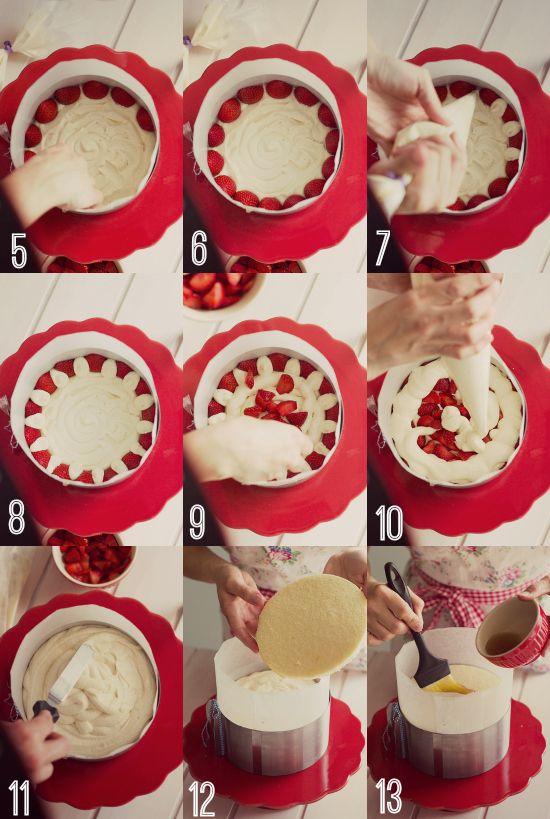 Tarta fácil de fresas con nata - Megasilvita