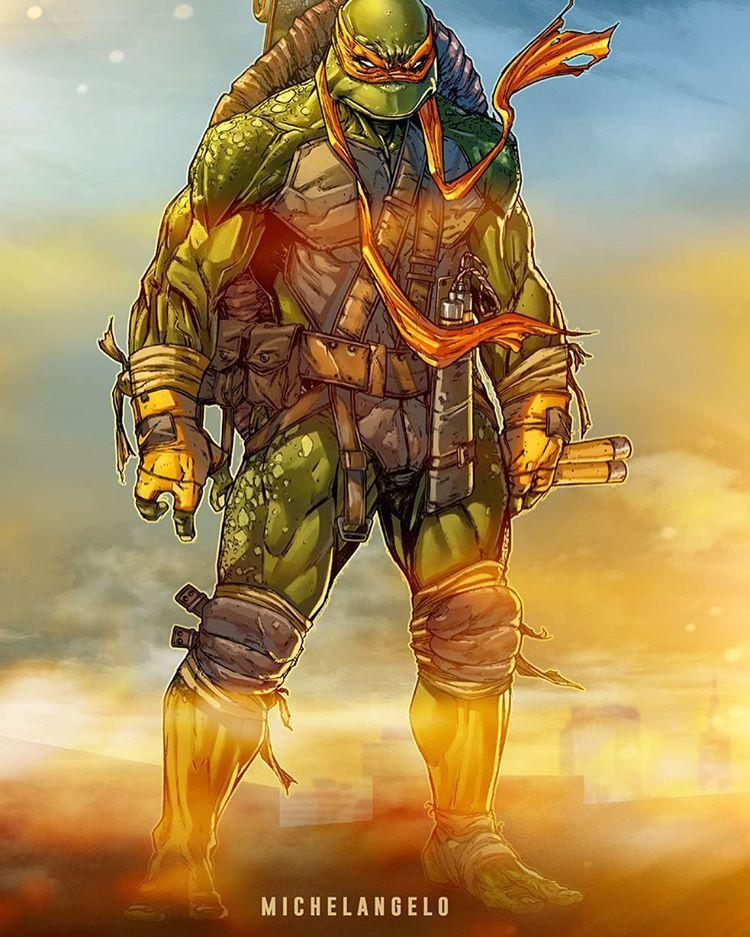 A4 Teenage Mutant Ninja Turtles TMNT - Full Colour Print