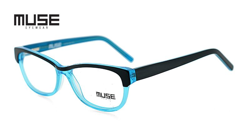 2b5cc9d640be Muse Jasper Black w Clear Turquoise Prescription Eyeglasses From  89