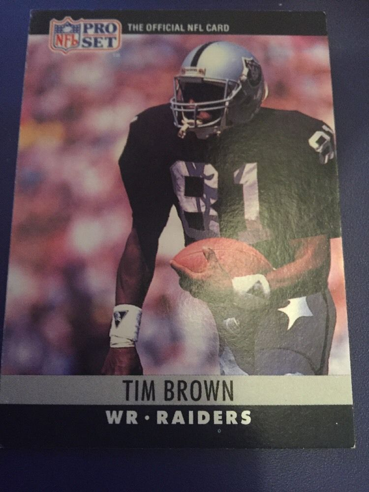 1990 Pro Set Tim Brown Card 150 Cards, Baseball cards