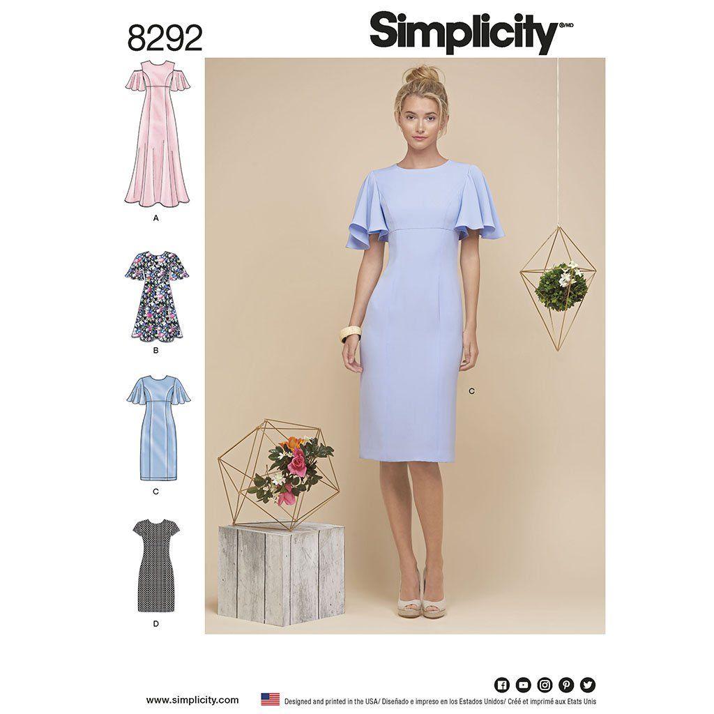 Simplicity Simplicity Pattern 8292 Misses\'/Miss Petite Dresses