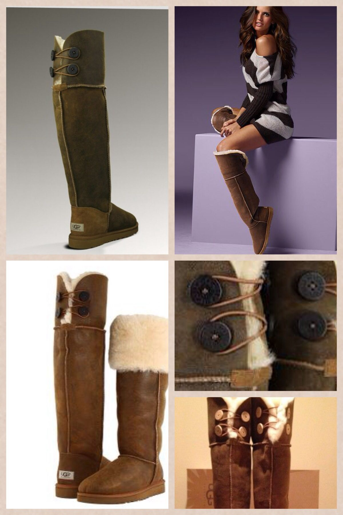 5b17eddf020 Uggs over knee bailey button boots | Boots