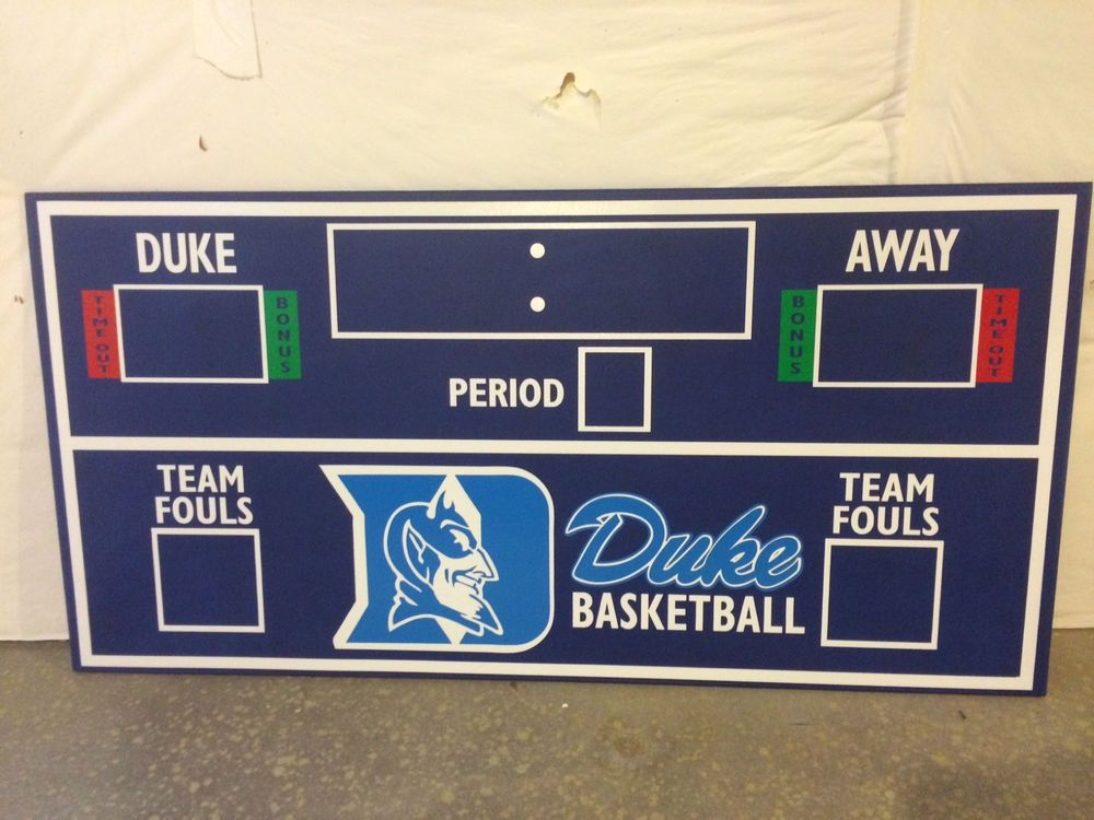 Duke Scoreboard Basketball Scoreboard Duke Decor Basketball
