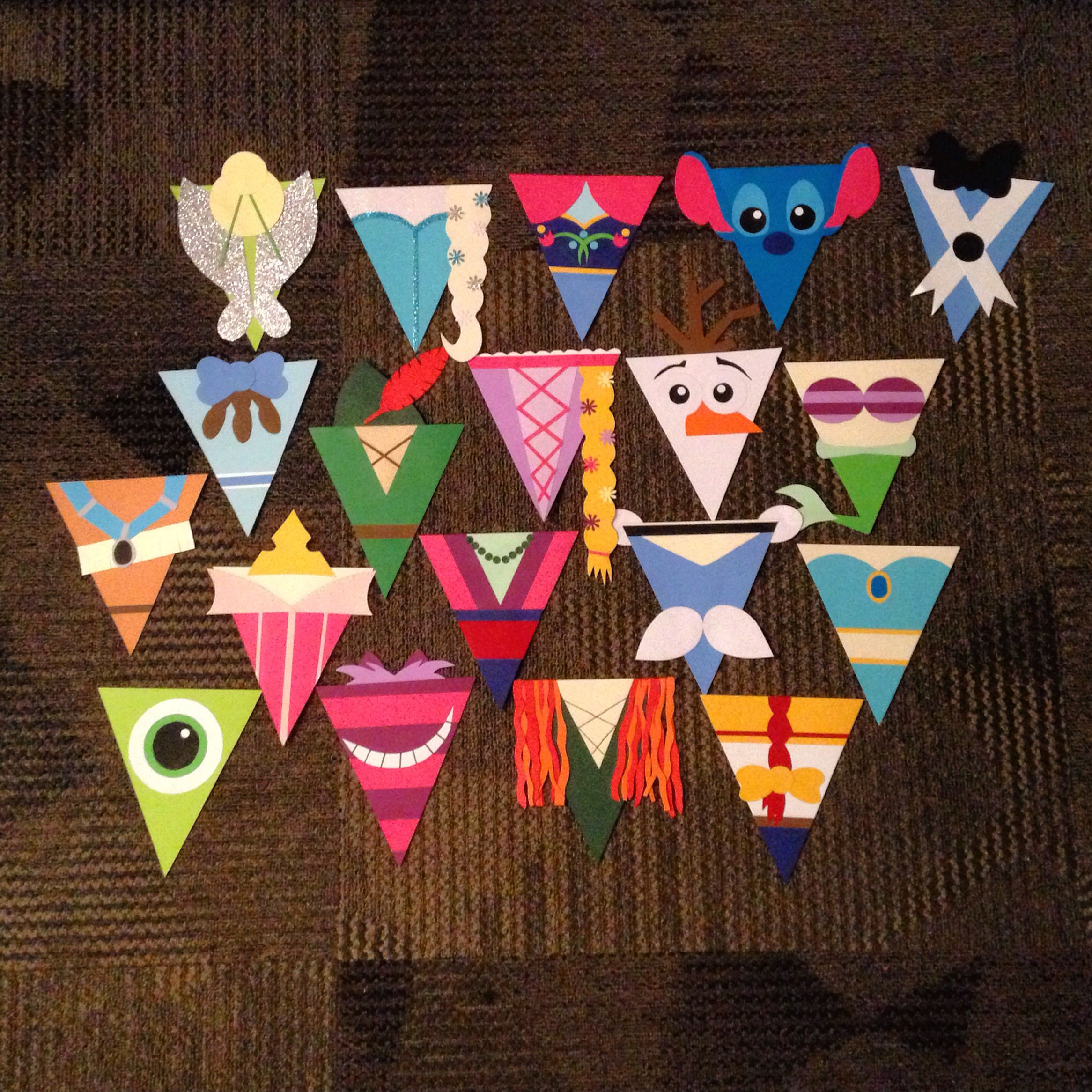 Disney Door Dec Pennants! So in love with how they turned out!