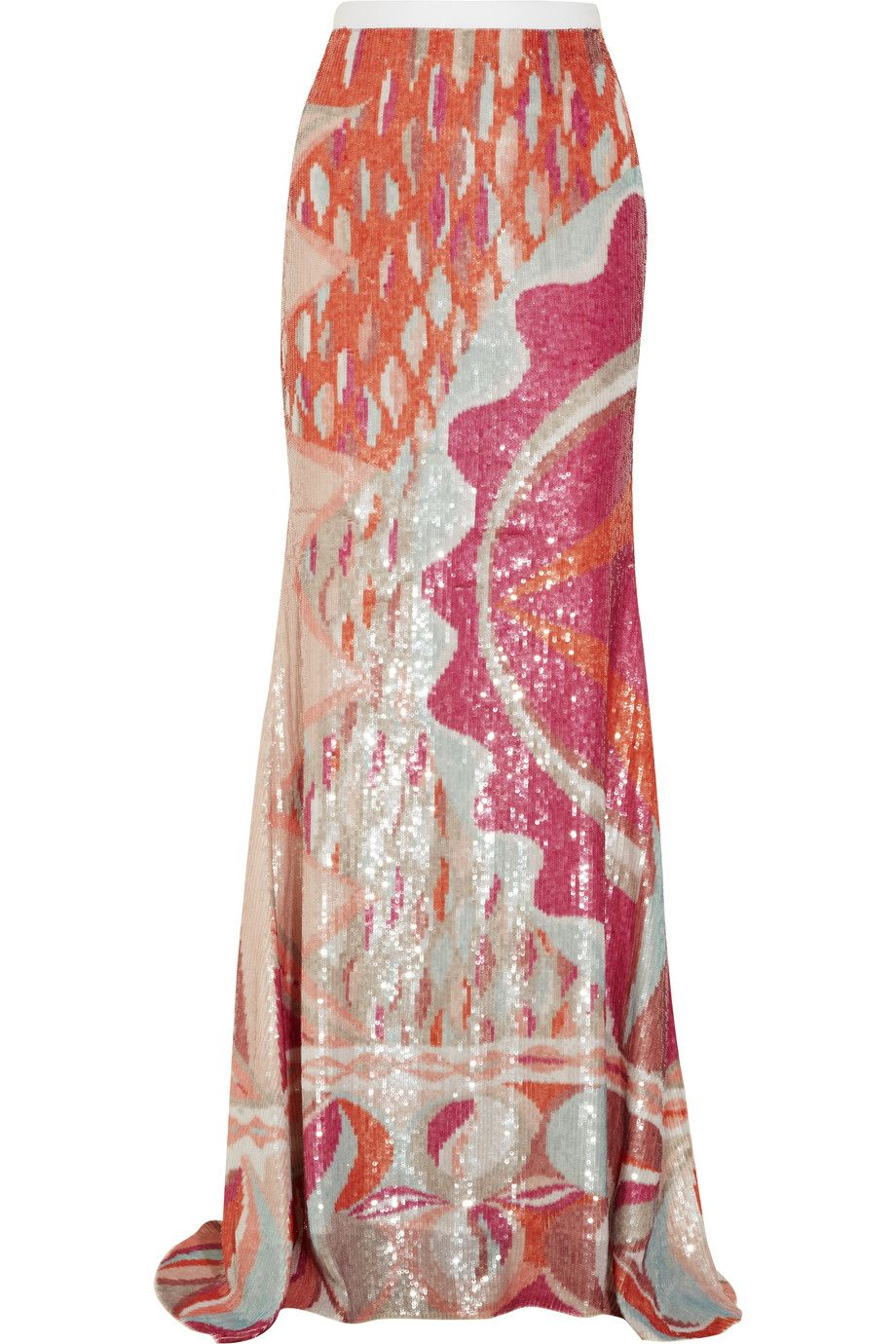 Women's Sequined Silk Maxi Skirt | Pucci and Emilio pucci