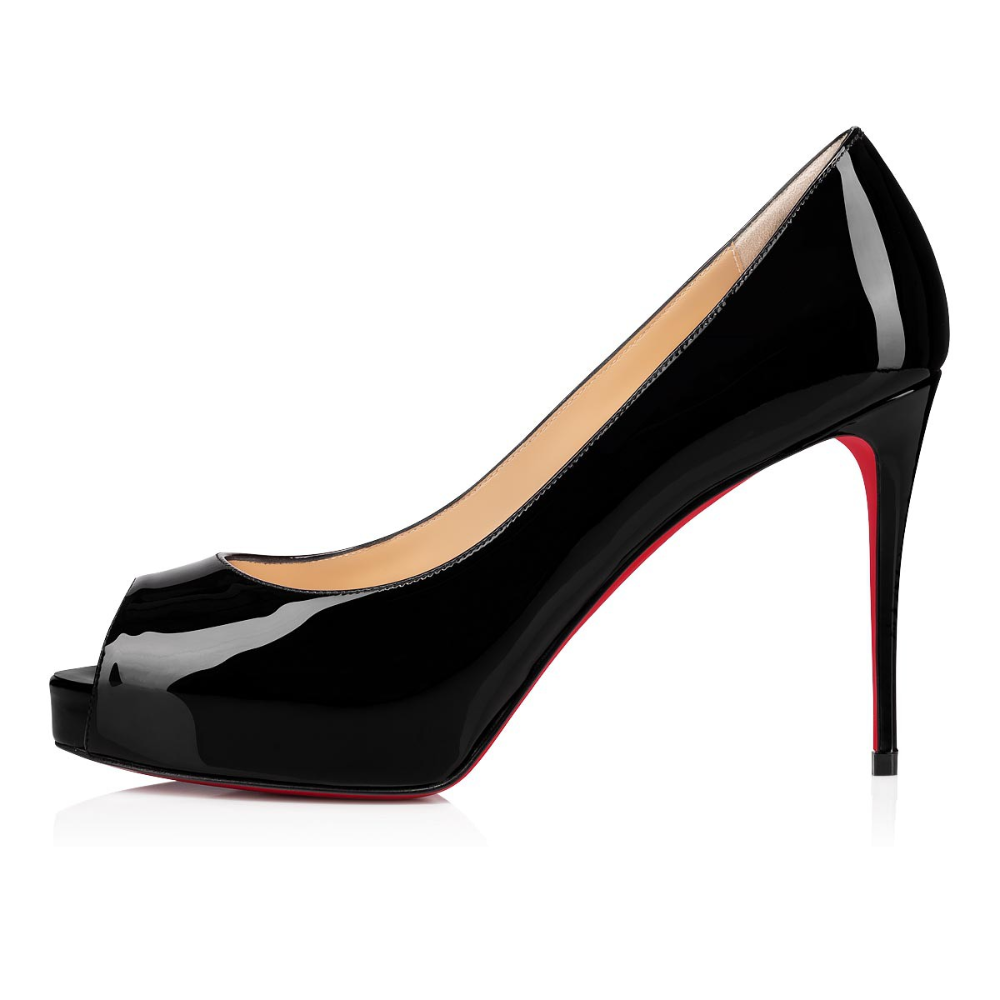 NEW VERY PRIVE 100 Black Patent Leather