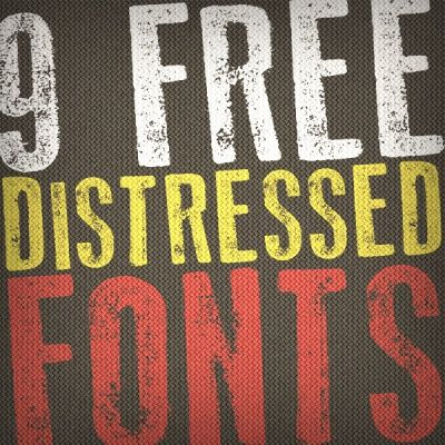 9 Killer Distressed Fonts for Designers | Free Design Resources