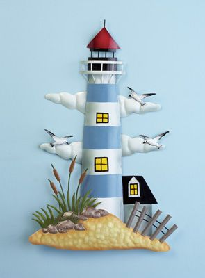 Nautical Metal Lighthouse Wall Art