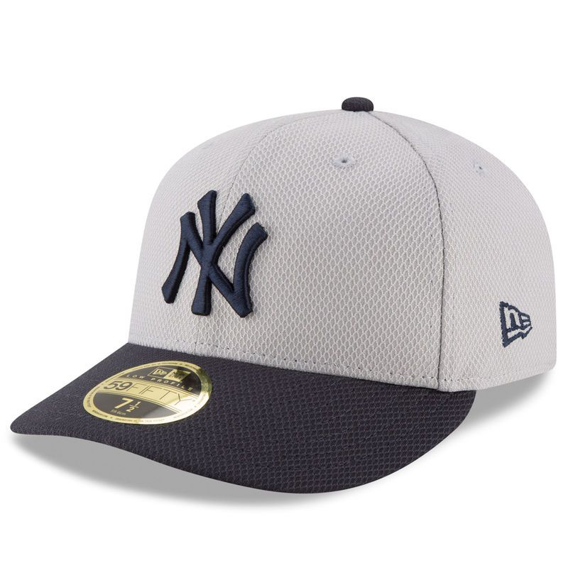 0484062dd2d06 New York Yankees New Era Diamond Era 59FIFTY Low Profile Fitted Hat - Gray  Navy