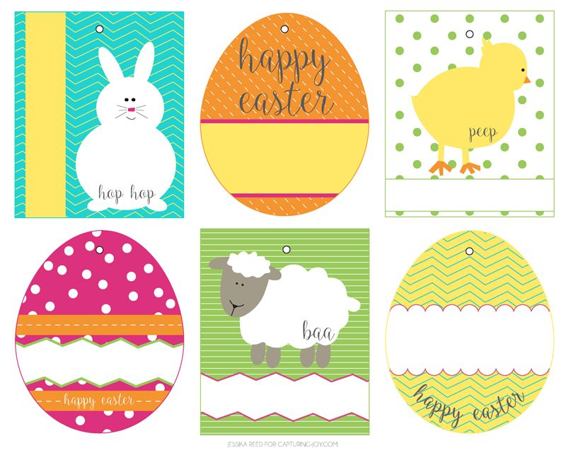 Free Easter Basket Gift Tags Holiday Ideas Easter Gift