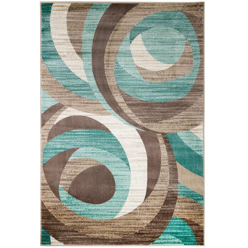 Gaeta Abstract Teal Brown Area Rug Teal Area Rug Brown Area Rugs Rugs In Living Room