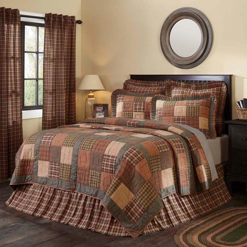 Crosswoods quilt by vhc brands quilt bedding primitive