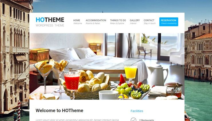 Hotheme Is A Beautiful Clean And Free Hotel Wordpress Theme You