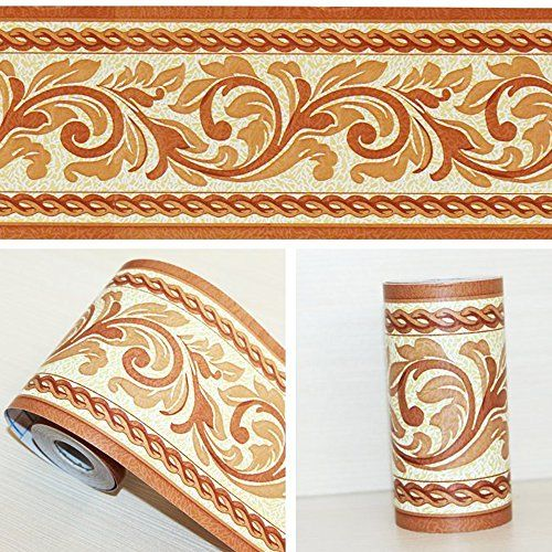 Simplelife4u Self Adhesive Wallpaper Border Pvc Waterproof Wall Decor Decal For Bathroom Kit Wall Decor Decals Wallpaper Border Self Adhesive Wallpaper Borders