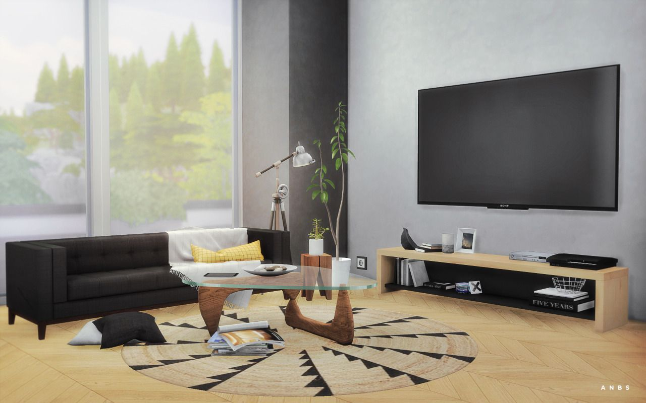 Japanese style living room for The Sims 4 | The Sims 4 downloads ...